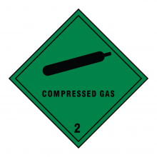 Compressed Gas 2 Hazard Warning Sign