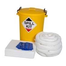 Oil & Fuel Spill Kit with Plastic Drum 90 Litres