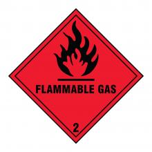 Flammable Gas 3 Hazard Warning Sign