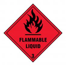 Flammable Liquid 3 Hazard Warning Sign