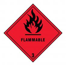 Flammable 3 Hazard Warning Sign