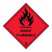 Highly Flammable 3 Hazard Warning Sign
