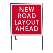 New Road Layout Ahead Polypropylene Sign Face (P7014)