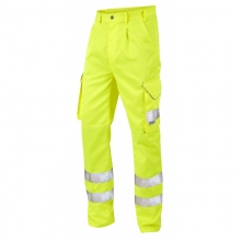 Leo Bideford Hi-Vis Yellow Superior Cargo Trousers