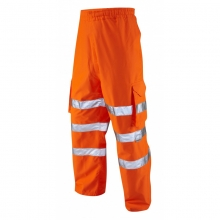 Leo Instow Hi-Vis Breathable Executive Cargo Overtrousers