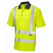 Leo Rockham Hi-Vis Short Sleeve Coolviz Poloshirt