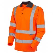 Leo Woolsery Hi-Vis Long Sleeve Coolviz Poloshirt