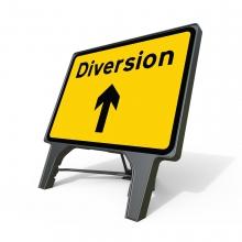 Q Sign 2702v Diversion Ahead