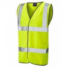 Leo Tarka Hi-Vis Yellow Basic Waistcoat