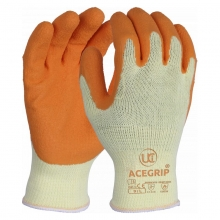 AceGrip-Orange Latex Grip Gloves