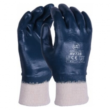 AV728-Armalite Fully Coated Nitrile  Knitted Wrist Gloves