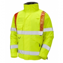 Leo Portmore Hi-Vis Superior Orange Brace Bomber Jacket