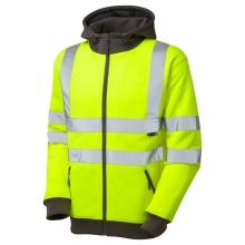 Leo Saunton Hi-Vis Full Zip Hooded Sweatshirt