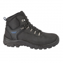 Black Leather Safety Hiker Boot