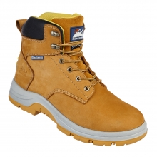 Honey Nubuck Leather Safety Boot