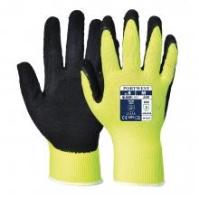 Portwest A340 Hi Vis Yellow Nylon/Latex Grip Gloves