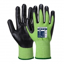 Portwest A645 Green/Black Nitrile Foam Coated Cut Resistant Gloves