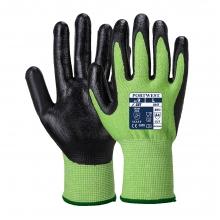 Portwest A645 Green/Black Nitrile Foam Coated Cut Resistant Gloves