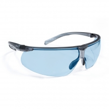 Riley Riletto Ultra-Lite Black Safety Glasses with Blue Lenses