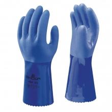 Showa 660 Blue PVC Chemical Resistant Gauntlets 34cm