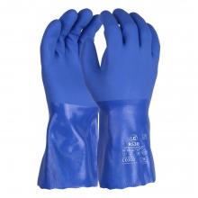 R530 Triple Dipped Blue PVC Gauntlet 30cm