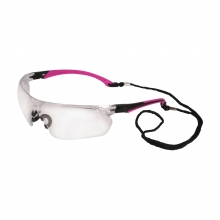 Tiran Pink Safety Glasses with Clear Lenses
