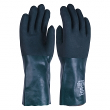 V335 Green Double Dipped PVC Gauntlets 35cm