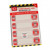 Worker Induction ID Safety Helmet Stickers