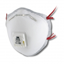 3M 8833 Valved FFP3 Disposable Respirator - Box of 10