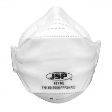 JSP Springfit 431ML Non-Valved FFP3 Disposable Respirator - Box of 10