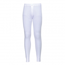 Portwest B121 White Thermal Baselayer Trousers Size M