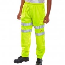 Click BSJB Hi-Vis Yellow Jogging Bottoms