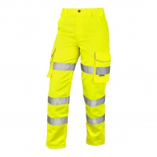 Leo Pennymoor Women's Hi-Vis Yellow Cargo Trousers