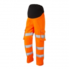 Leo Verity Women's Hi-Vis Orange Maternity Cargo Trousers
