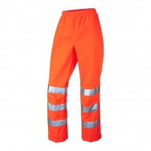 Leo Hannaford Women's Hi-Vis Orange Breathable Overtrousers