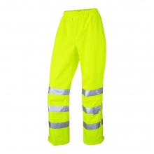 Leo Hannaford Women's Hi-Vis Yellow Breathable Overtrousers