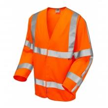 Leo Parkham Hi-Vis Orange LFS Long Sleeve Waistcoat