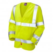 Leo Meshaw Hi-Vis LFS Anti-Static Long Sleeve Waistcoat