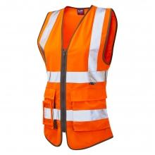 Leo Lynmouth Women's Hi-Vis Orange Superior Waistcoat