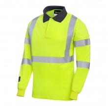 Progarm 5286 Hi-Vis FR AST ARC Long Sleeve Poloshirt