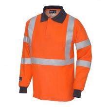 Progarm 5290 Hi-Vis FR AST ARC Long Sleeve Poloshirt Size M