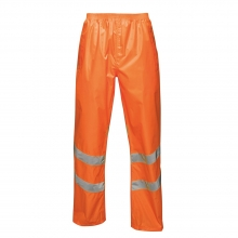 Regatta Hi-Vis Pro Packaway Waterproof Trousers