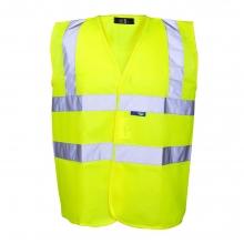 Hi-Vis Yellow Basic Waistcoat Size S