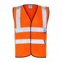 Hi-Vis Orange Basic Waistcoat