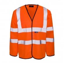 Hi-Vis Orange Long Sleeve Waistcoat
