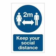 Keep Your Social Distance Sign