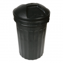 Dustbin With Lid Black 80Ltr