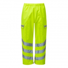 Pulsar P206TRS Hi-Vis Yellow Waterproof Overtrousers Large