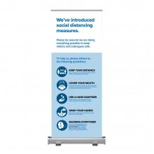 Social Distancing Measures Roller Banner