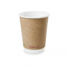 Vegware Double Wall Brown Kraft Cup 12oz - Pack of 500